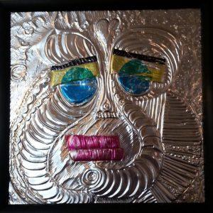 Clown sculpture aluminum