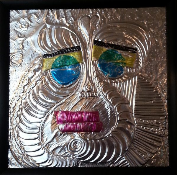 Clown sculpture aluminum