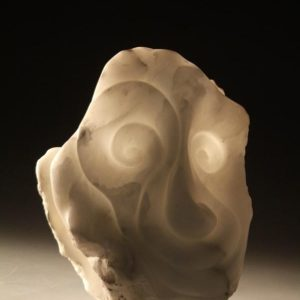 Wiz Italian white alabaster stone sculpture